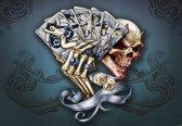 Fotobehang Skull Dice Cards | PANORAMIC - 250cm x 104cm | 130g/m2 Vlies