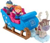 Fisher-Price Little People Disney Frozen Kristoff's Slee - Speelfigurenset
