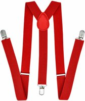 Fako Fashion® - Bretels - Effen - 100cm - Rood