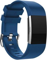 YONO Siliconen bandje - Fitbit Charge 2 - Blauw - Large