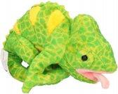 Pluche kameleon knuffel 19 cm