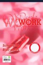 Work schrijfblok A4 - ruit 5 mm - 70 grams - 100 vel - 5 stuks