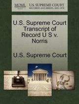 U.S. Supreme Court Transcript of Record U S V. Norris
