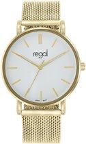 Regal - Regal mesh horloge met goudkleurige band