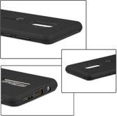 Let op type!! Voor Galaxy S9 + backcover berijpte TPU + PC beschermende hoes met Holder(Black)