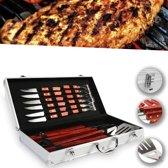 RVS BBQ Bestek Set Koffer - Barbecue Gereedschap Kit Met Spatel / Messen / Vork & Tang
