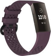 watchbands-shop.nl Siliconen bandje - Fitbit Charge 3 - Paars - Small