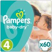 Pampers Baby Dry - Maat 4 (Maxi) 8-16 kg - 60 Stuks - Luiers