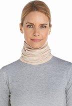 Coolibar UV col Dames nekbescherming - Beige - Maat S/M (50CM)