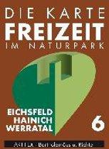 Die Karte - Freizeit in Thüringen 06. Eichsfeld - Hainich - Werratal 1 : 50 000