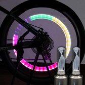 Firefly LED - Fietswielverlichting - Ventielbevestiging - Set van 2 - RGB