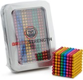 Brute Strength - Neocube Magneetballetjes - Multicolor (504 balletjes | 5mm | metalen geschenkverpakking)