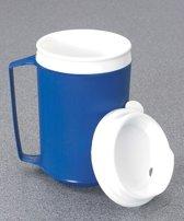 Verzwaarde thermos beker met deksel 340 ml