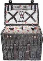 Cosy&Trendy Picknickmand inclusief bestek en servies voor 4 personen
