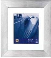 Henzo LUZERN aluminium - Fotolijst - 20 x 20 cm - Fotoformaat  20 x 20 / 13 x 13 cm - Zilver