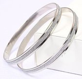 Zilverkleurige armband met glitter