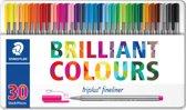 triplus fineliner - Metalen etui 30 kleuren
