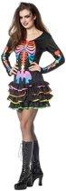 Halloween - Neon skelet halloween jurkje voor dames 36 (S)