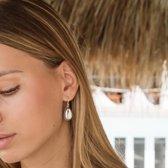 Vintage Cowrie Shell earrings - Kleur: Goud