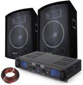 500W PA DJ Disco set met versterker en luidsprekers