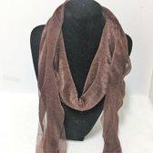 Fashionidea - Mooie bruine zijde zachte glimmende sjaal