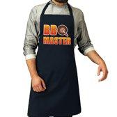 BBQ Master barbeque schort / keukenschort navy blauw voor heren - bbq schorten