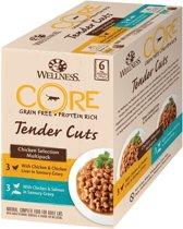 Wellness Core Tender Cuts Chicken Selection - Katten natvoer -  6 x 85 g