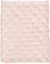 Cottonbaby Ledikantdekentje - Dot melee roze - 120x150 cm