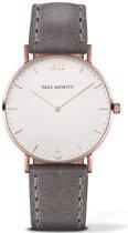 Paul Hewitt Sailor Line PH-SA-R-ST-W-13S - Horloge - Leer - Grijs - Ø39mm