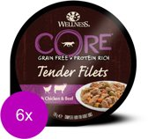 Wellness Core Tender Filets 170 g - Hondenvoer - 6 x Rund&Wortel&Bonen