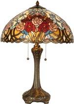 Tafellamp tiffany compleet 64 x Ø 46 cm 2x E27 max 60w.