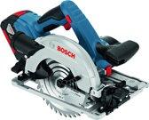 Bosch Professional GKS 18V-57 G Accu cirkelzaag - Met 2x GBA 18V 5,0Ah accu's, GAL1880 CV lader, FSN 1600 geleiderail in L-BOXX