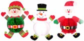 3 Honeycomb Hanging Decorations Christmas Characters Paper35 cm each