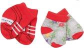 Baby Born Sokken Trend 43 Cm Dubbelverpakking Rood/grijs