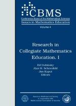 Research in Collegiate Mathematics Education I