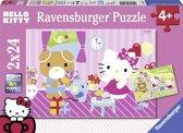 Ravensburger Hello Kitty en haar vriendjes Twee puzzels van 24 stukjes