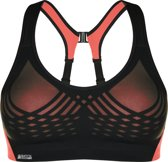 Shock Absorber Sportbeha performance Dames Ultimate Fly Bra - 336008 Black/Coral Breeze