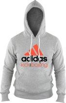 adidas Community Hoodie Grijs/Oranje KickBoxing Extra Small
