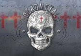 Fotobehang Alchemy Skull Death Metal | DEUR - 211cm x 90cm | 130g/m2 Vlies