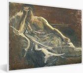 Foto in lijst - Saul - Schilderij van Jozef Israëls fotolijst wit 40x30 cm - Poster in lijst (Wanddecoratie woonkamer / slaapkamer)