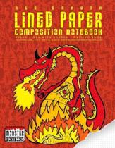 Red Dragon - Lined Paper Composition Notebook