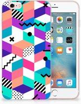 Apple iPhone 6 | 6s TPU Hoesje Design Blocks Colorful