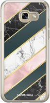 Samsung Galaxy A5 2017 siliconen hoesje - Abstract rose gold