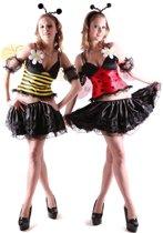 Omkeerbare vermomming als bij en lieveheersbeestje voor vrouwen - Verkleedkleding - Large