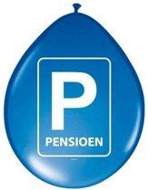 16x Pensioenfeest ballonnen blauw - Feestartikelen