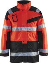 Blåkläder 4426-1997 Parka (Uitneembare voering) High Vis Rood/Zwart maat XXXL