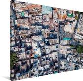 Bovenaanzicht van Lahore in Pakistan Canvas 160x120 cm - Foto print op Canvas schilderij (Wanddecoratie woonkamer / slaapkamer) XXL / Groot formaat!