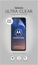 Selencia Duo Pack Ultra Clear Screenprotector voor de Motorola One Vision