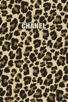 Chanel: Personalized Notebook - Leopard Print (Animal Pattern). Blank College Ruled (Lined) Journal for Notes, Journaling, Dia