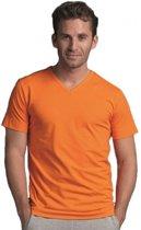 Heren t-shirt met v-hals
